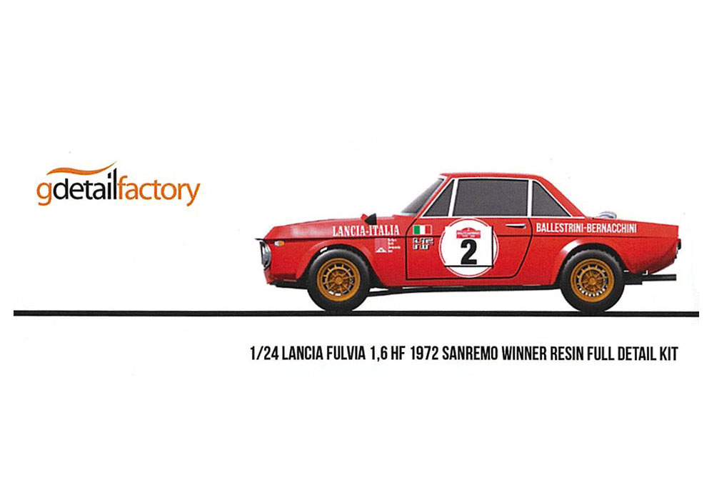 G detail factory 1/24キット Lancia Fulvia 1.6 HF 1972 Sanremo winner