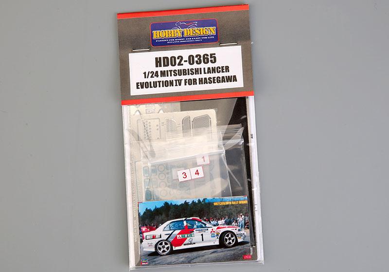 Hobby Design HD02_0365 1/24 ミツビシ ランサー Evolution IV ディテールアップセット for Hasegawa