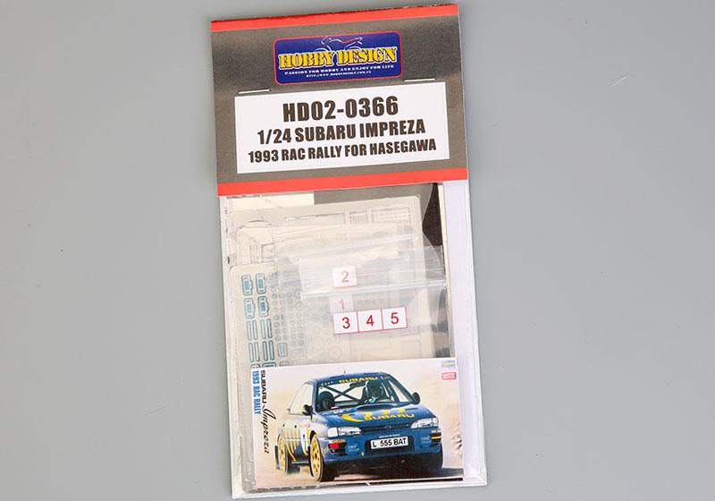 Hobby Design HD02_0366 1/24 スバル インプレッサ 1993 RAC Rally ディテールアップセット for Hasegawa