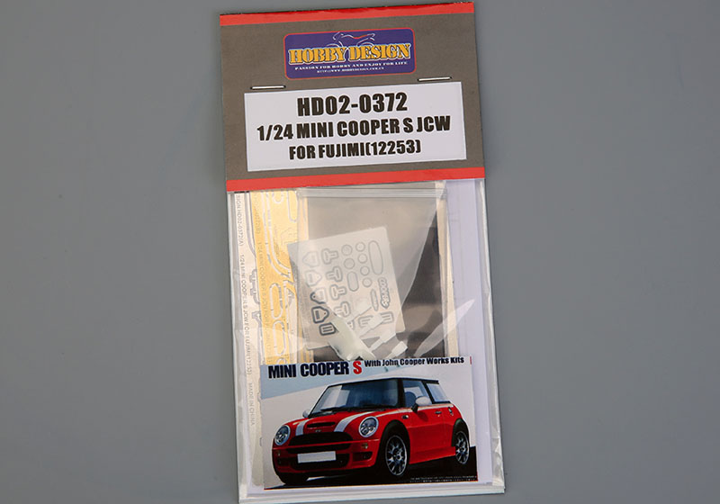 Hobby Design HD02_0372 1/24 Mini Cooper S JCW Detail-up set for Fujimi