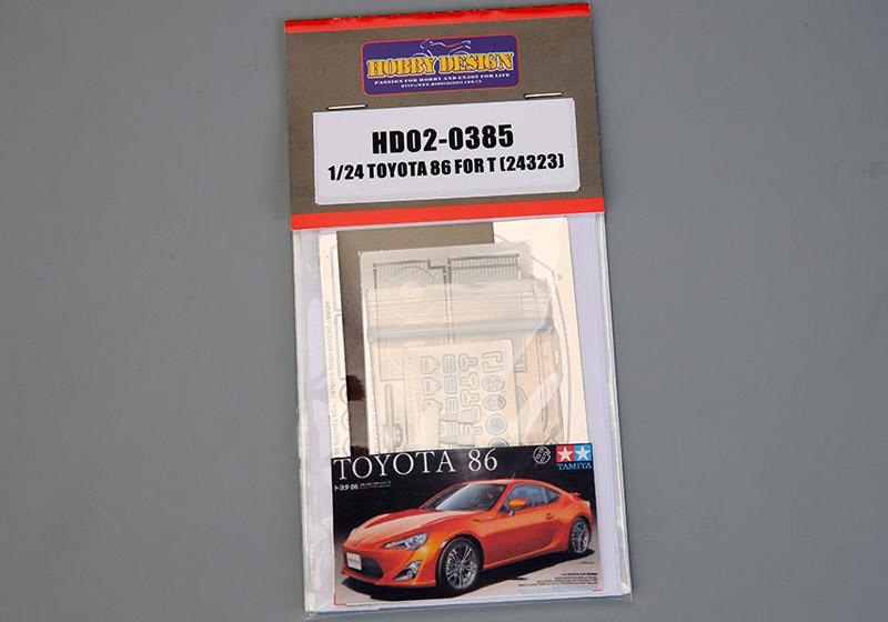 Hobby Design HD02_0385 1/24 Toyota 86 Detail up set for Tamiya