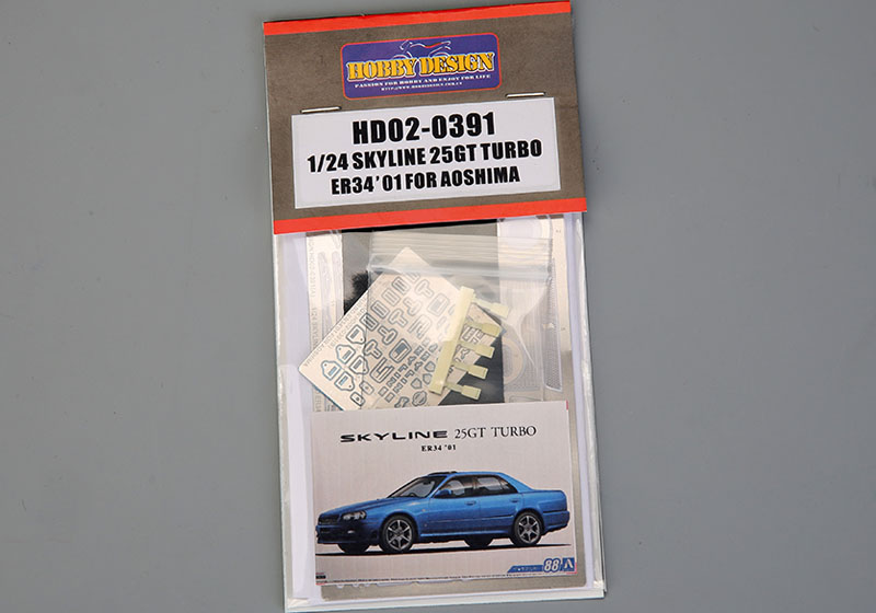 Hobby Design HD02_0391 1/24 Skyline 25GT Turbo ER34 '01 Detail up set for Aoshima