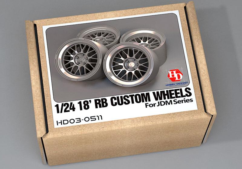 Hobby Design HD03_0511 1/24 18' RB Custom Wheels for JDM Series