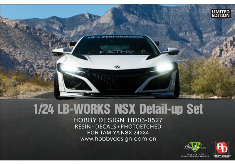 Hobby Design HD03_0527 1/24 LB-Works Honda NSX Wide Body Kit For Tamiya