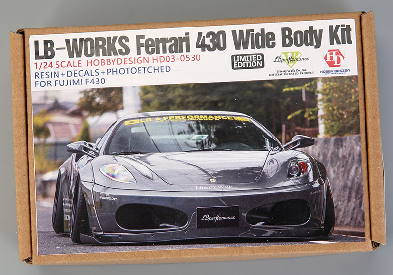 Hobby Design HD03_0530 1/24 LB Works Ferrari 430 Wide Body Kit for Fujimi