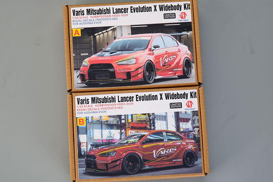 Hobby Design HD03_0539 1/24 Varis Mitsubishi Lancer Evolution X WideBody kit For Aoshima