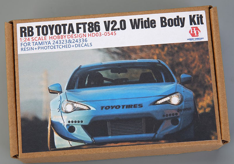 Hobby Design HD03_0545 1/24 RB Toyota FT86 V2.0 Wide Body Kit for Tamiya