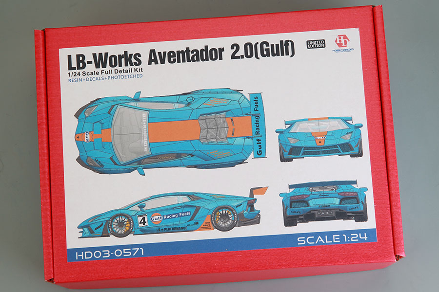 Hobby Design HD03_0571 1/24 LB-Works Aventador 2.0 Gulf Full Kit
