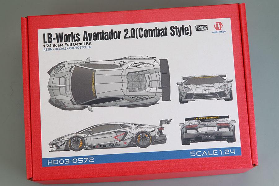 Hobby Design HD03_0572 1/24 LB-Works Aventador 2.0 Combat Style Full Kit