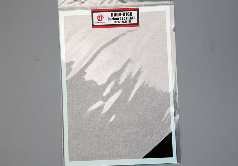 Hobby Design HD04_0160 Carbon Decal (A) -L (for 1/12&1/18) 【メール便可】
