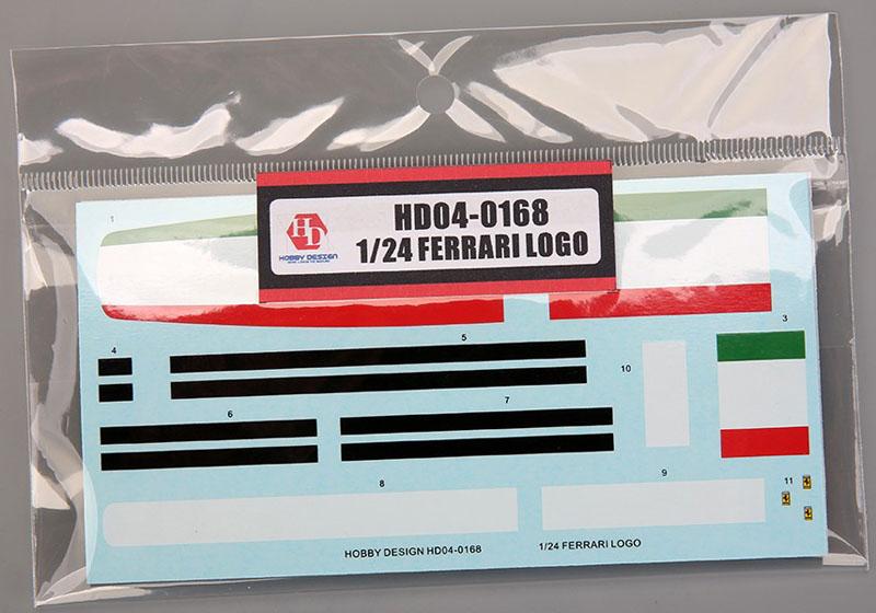 Hobby Design HD04_0168 1/24 Ferrari Logo Stripes Decal set 【メール便可】