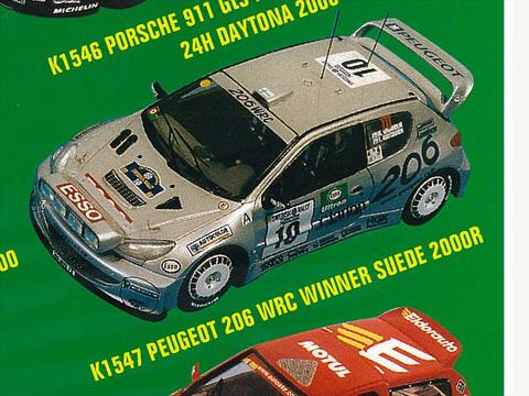 PROVENCE K1547 プジョー 206 WRC Winner スウェーデン 2000
