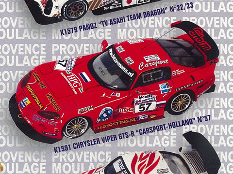 PROVENCE K1591 クライスラー VIPER GTS-R CARSPORT-HOLLAND n.57 LM2000