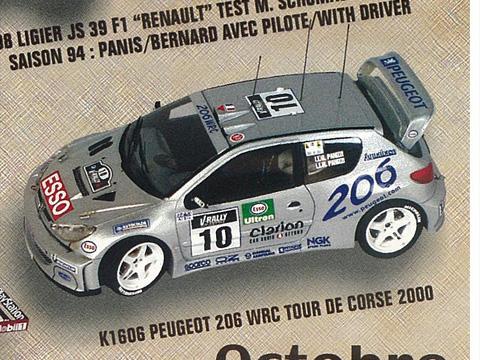 PROVENCE K1606 プジョー 206 WRC Tour de Corse 2000