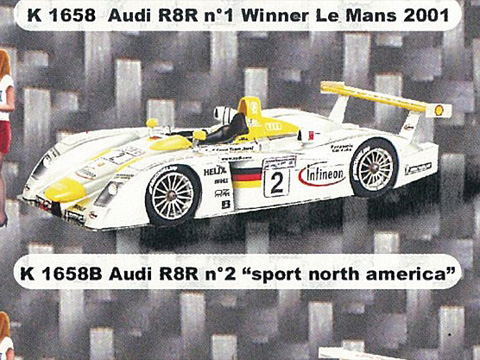 PROVENCE K1658b アウディ R8 n.2 sport north america LM 2001