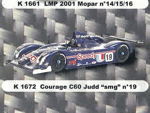 PROVENCE K1672 クラージュ C60 Judd SMG n.19 LM 2001