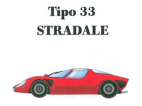 HIRO K175 1/24 Alfa Romeo Tipo 33 Stradale  Late type