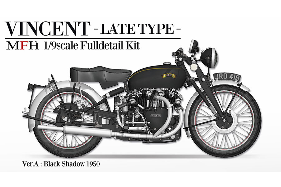 HIRO K621 1/9 VINCENT [Late Type] Ver.A Black Shadow 1950