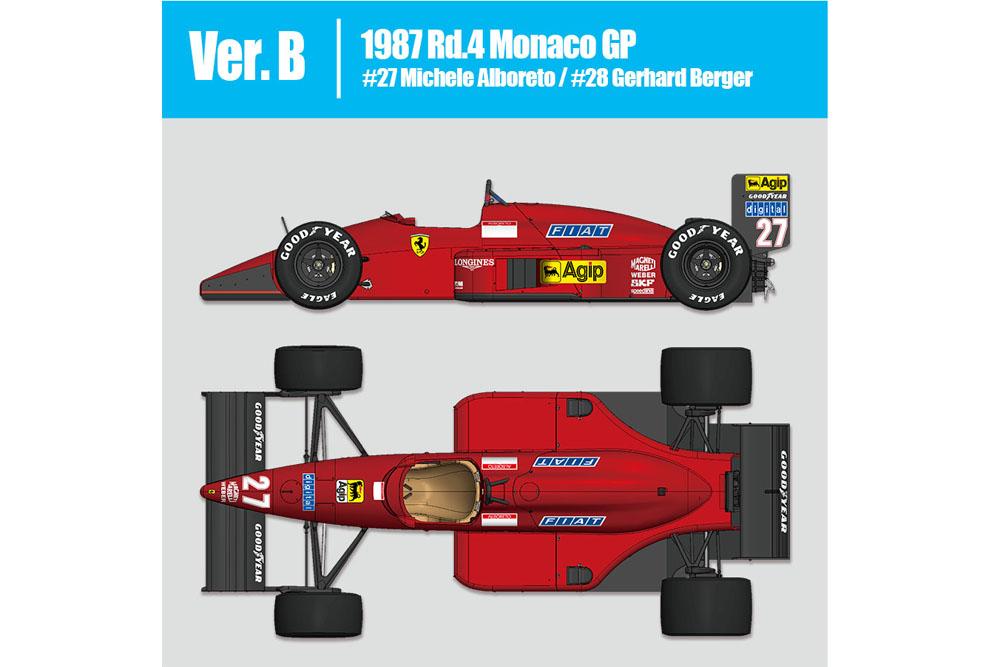 HIRO K625 1/12 フェラーリ F187 Ver.B 1987 Rd.4 Monaco GP #27/#28