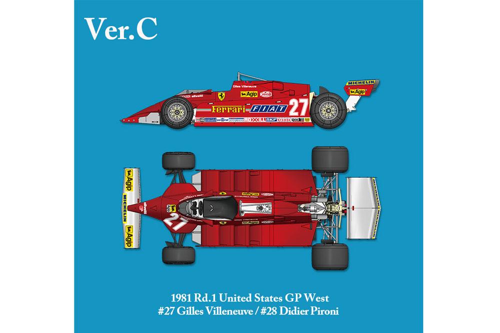 【お取り寄せ商品】 HIRO K639 1/12 フェラーリ 126CK Ver.C 1981 Rd.1United States GP West