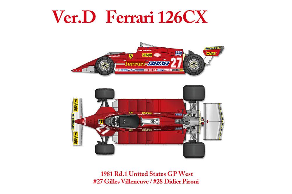 【お取り寄せ商品】 HIRO K640 1/12 フェラーリ 126CX Ver.D 1981 Rd.1United States GP West [Practice]