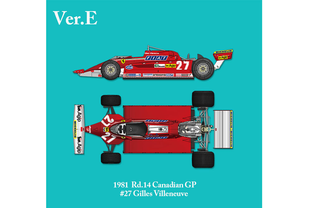 【お取り寄せ商品】 HIRO K641 1/12 フェラーリ 126CK Ver.E 1981 Rd.14 Canadian GP