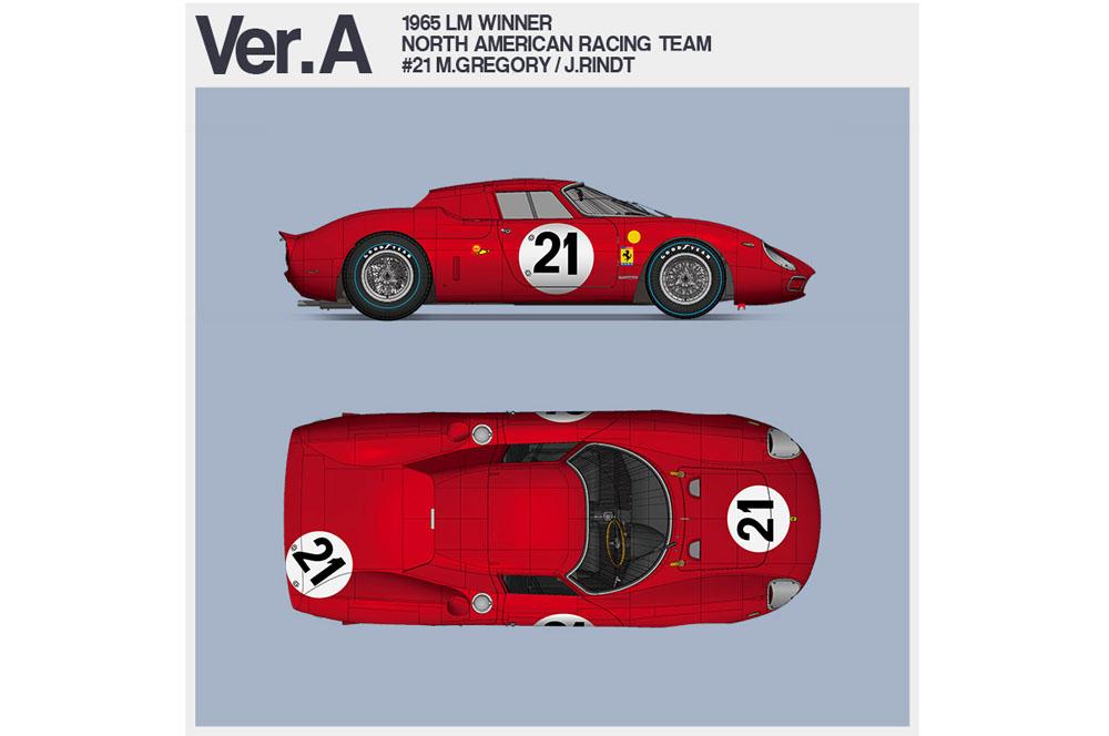 HIRO K653 1/12 フェラーリ 250LM Ver.A 1965 LM Winner [North American Racing Team] #21