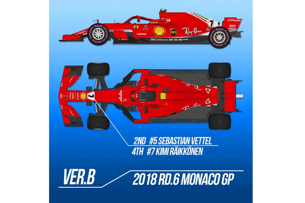【お取り寄せ商品】 HIRO K671 1/12 Ferrari SF71H 2018 ver.B 2018 Rd.6 Monaco GP