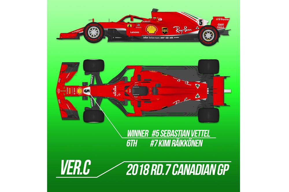 【お取り寄せ商品】 HIRO K672 1/12 Ferrari SF71H 2018 ver.C 2018 Rd.7 Canadian GP
