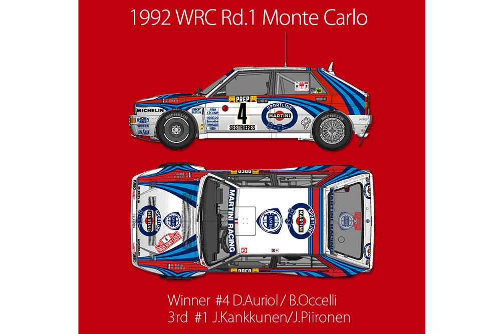 【お取り寄せ商品】 HIRO K729 1/12 Lancia Delta HF Integrale Evo 1992 Montecarlo
