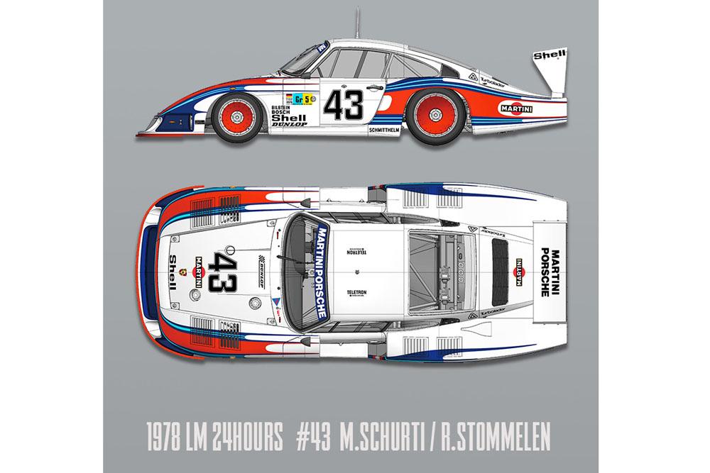 【お取り寄せ商品】 HIRO K740 1/12 Porsche 935/78 Moby Dick LM 1978 n.43