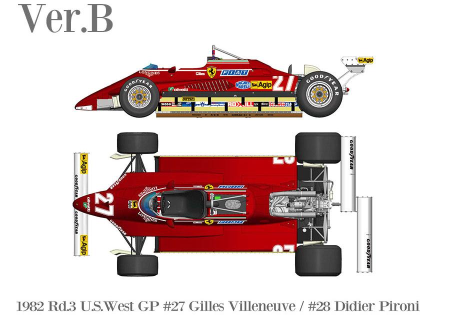 HIRO K766 1/43 Ferrari 126C2 Ver.B 1982 Rd.3 U.S.West GP #27 G.Villeneuve / #28 D.Pironi