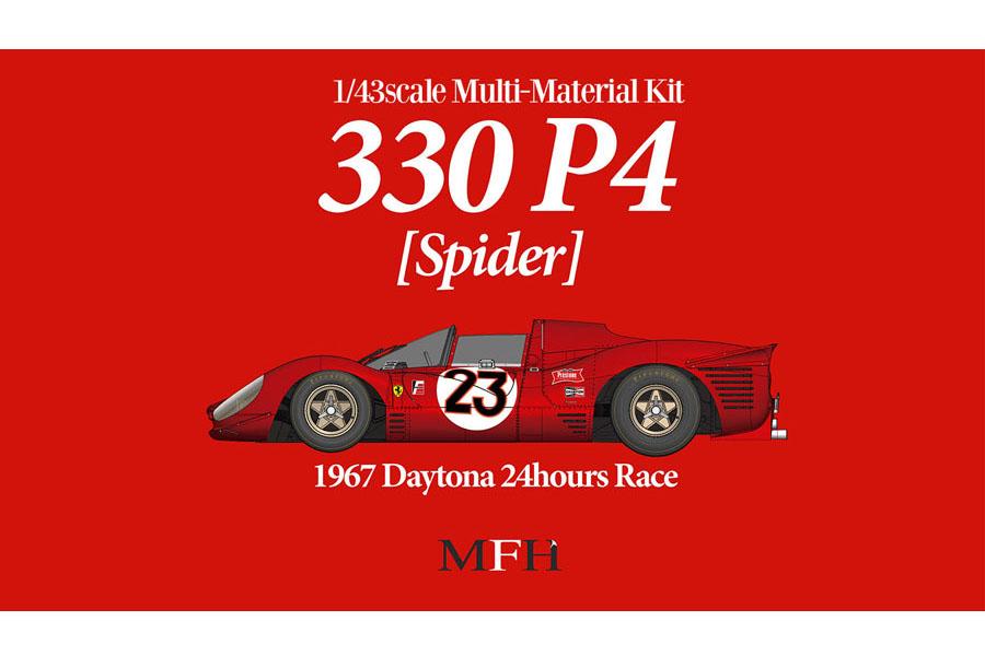 HIRO K787 1/43 Ferrari 330P4 Spider Ver.A 1967 Daytona 24H #23