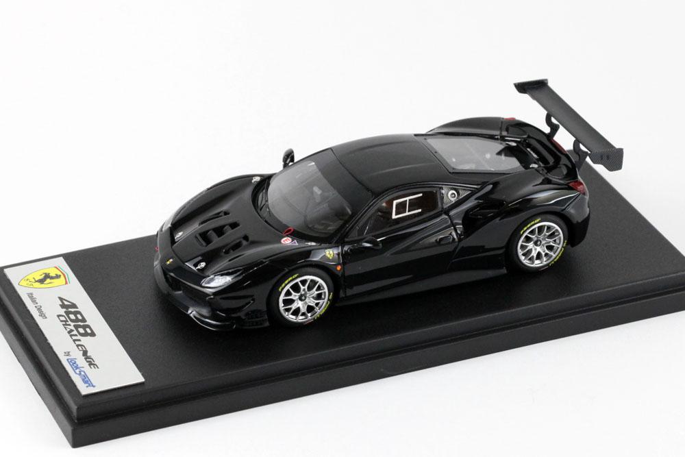 LOOKSMART LS476D フェラーリ 488 Challenge Nero DS (ブラック)