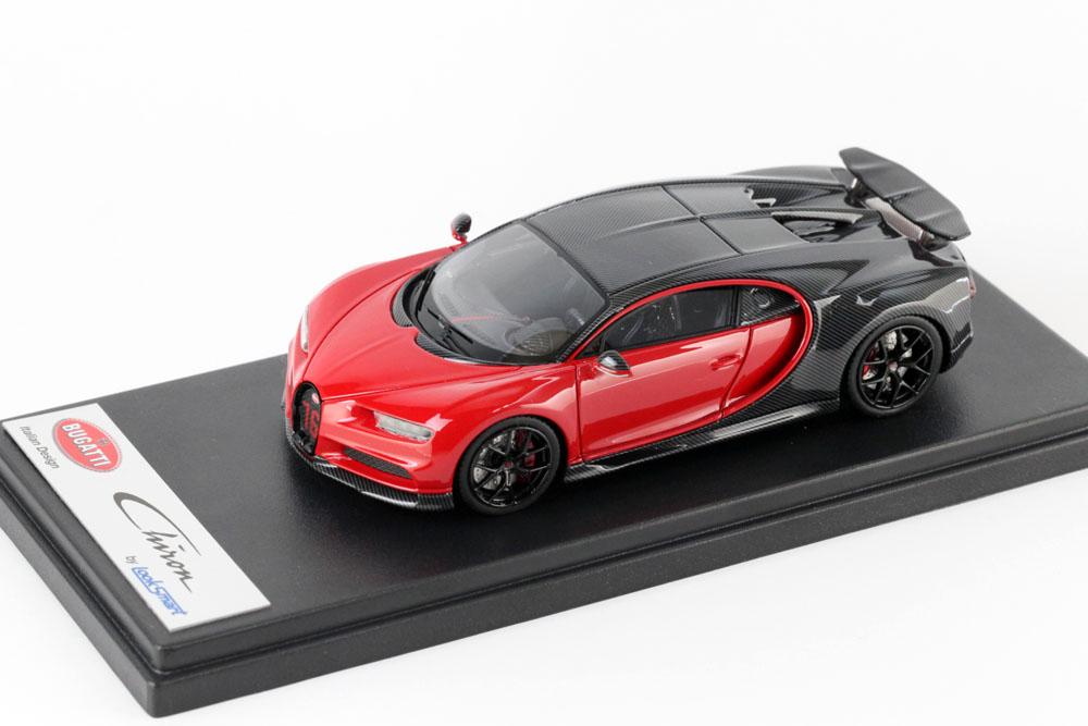 LOOKSMART LS490A Bugatti Chiron Sport Grey Carbon / Italian Red