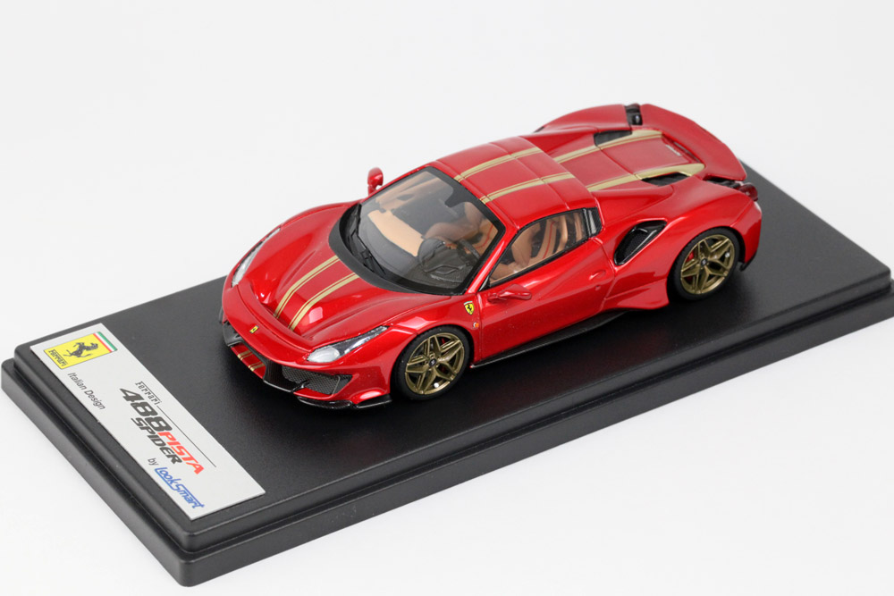 LOOKSMART LS496HTE Ferrari 488 Pista Spider (roof closed) Rosso F1 2007 / Gold Livery