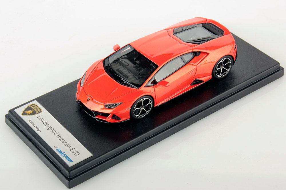 ** 再入荷待ち ** LOOKSMART LS498A Lamborghini Huracan Evo Arancio Xanto