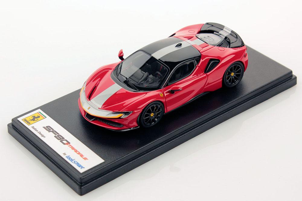 LOOKSMART LS504D 1/43 Ferrari SF90 Stradale Rosso Corsa / Nero DS Assetto Fiorano