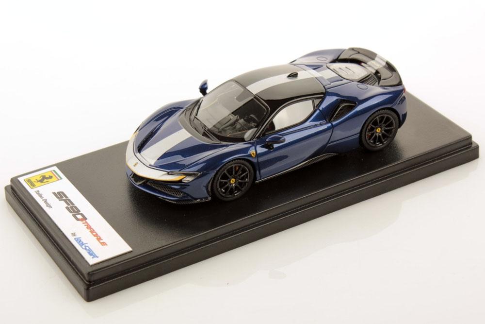 LOOKSMART LS504I 1/43 Ferrari SF90 Stradale Blu Elettrico / Assetto Fiorano