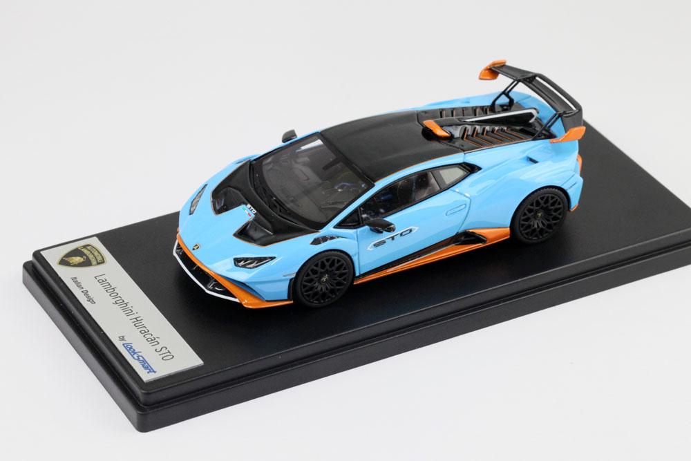 ** 予約商品 ** LOOKSMART LS523A 1/43 Lamborghini Huracan STO Blu Laufey