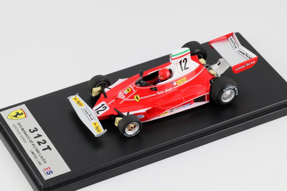LOOKSMART /ユーロスポーツ特注 LSF-ES1702 1/43 フェラーリ 312T モナコGP n.12 1975 N.ラウダ