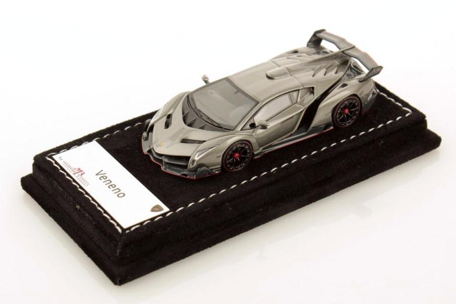 MR collection 1/64 Lamborghini Veneno Grigio Metalluro Lmited 599pcs