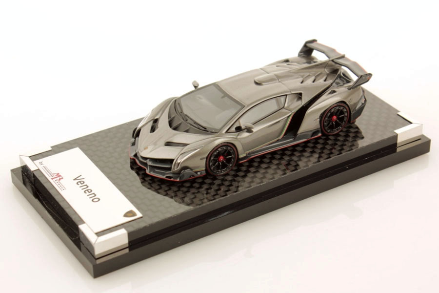 MR collection 1/64 Lamborghini Veneno Grigio Metalluro (Carbon Base) Lmited 99pcs