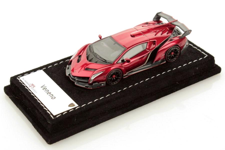 MR collection 1/64 Lamborghini Veneno Metallic Pearl Red Lmited 299pcs