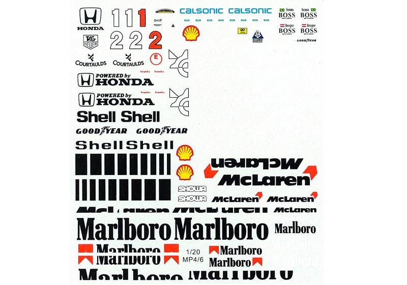 MSMクリエイション D140 1/20 マクラーレン MP4/6 フルデカール 【メール便可】