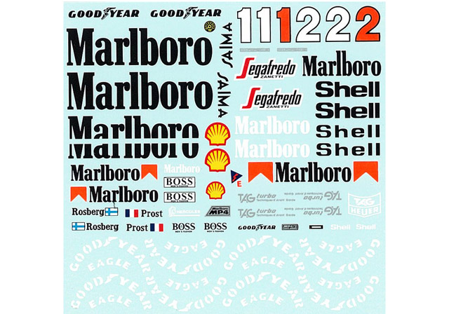 MSMクリエイション D210 1/20 マクラーレン MP4/2C 1986 コンバージョンデカール 【メール便可】