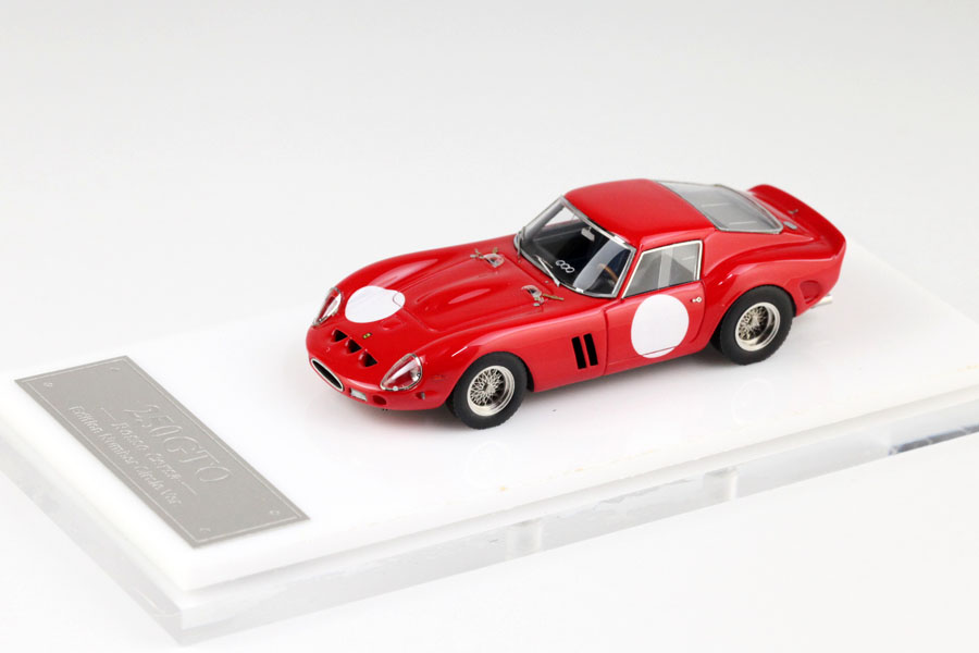 MY64 01U 1/64 Ferrari 250GTO 1962 Rosso Corsa with Number Circle Limited 199pcs