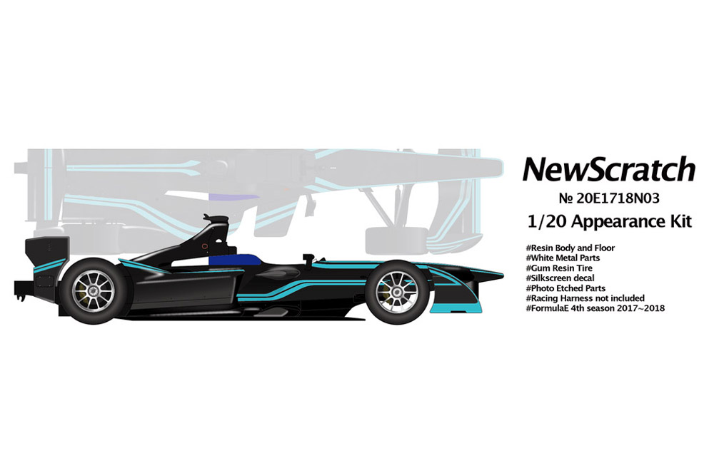 NewScratch 20E1718N03 1/20 Formula E 2017-18 #03 Nelson Piquet Jr