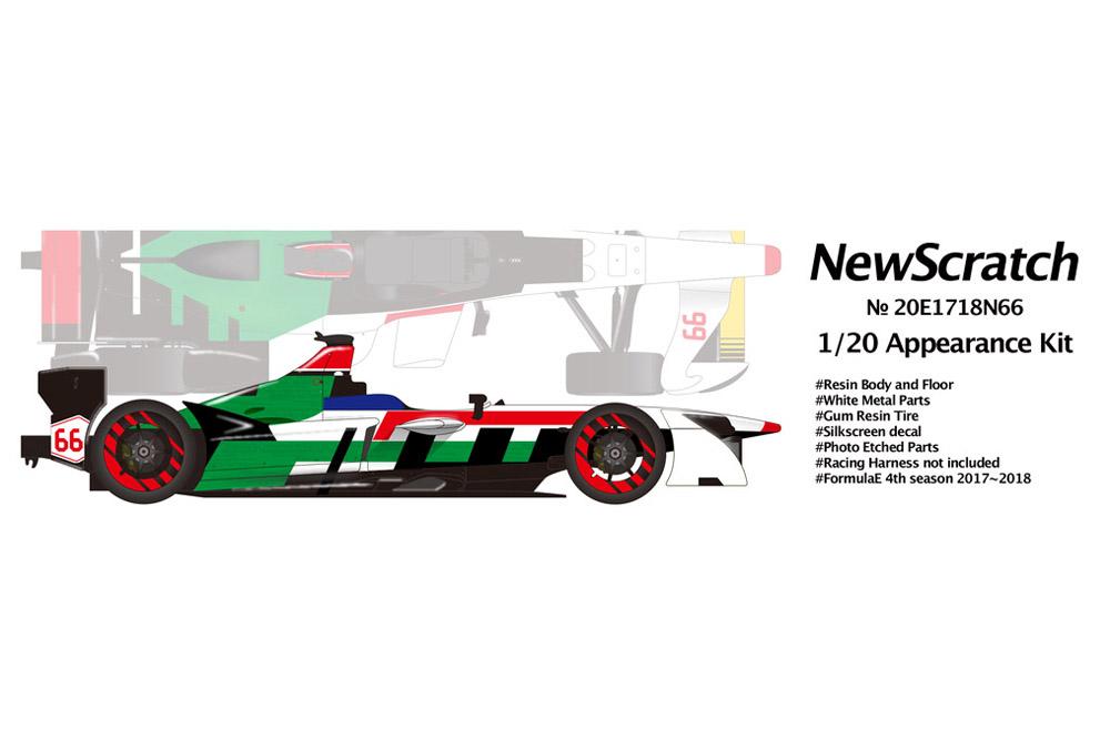 NewScratch 20E1718N66 1/20 Formula E 2017-18 #66 Daniel Abt