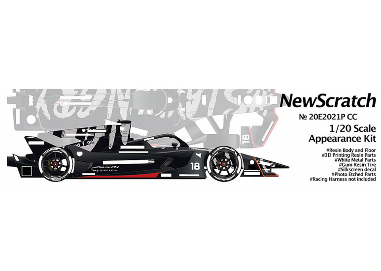 ** 予約商品 ** NewScratch 20E2021PCC 1/20kit Formula E GEN2 EVO Pコンセプトカラー